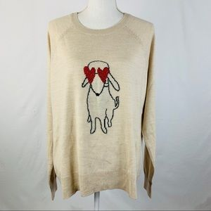 The Limited Poodle Dog Sweater Crew Neck XL
